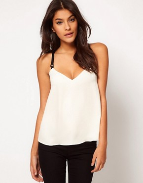 Image 1 ofASOS Cami With Contrast Elastic Straps