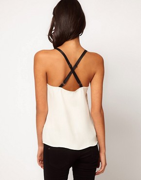 Image 2 ofASOS Cami With Contrast Elastic Straps