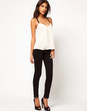 Image 4 ofASOS Cami With Contrast Elastic Straps