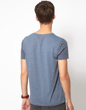 Image 2 ofASOS T-Shirt With Contrast Pocket And Sleeves