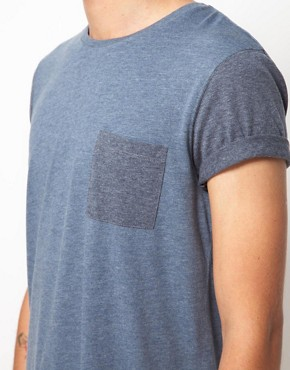 Image 3 ofASOS T-Shirt With Contrast Pocket And Sleeves