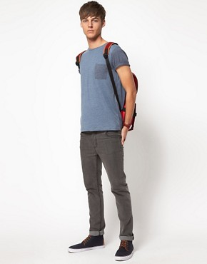 Image 4 ofASOS T-Shirt With Contrast Pocket And Sleeves