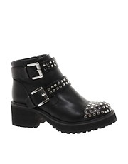 ASOS ADMIRAL Studded Biker Boots