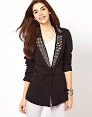 Only Stud Collar Blazer