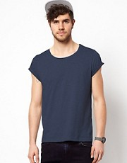 ASOS T-Shirt With Scoop Neck And Roll Sleeve