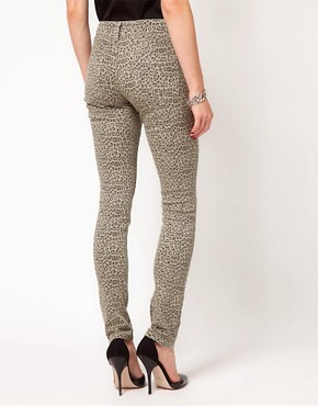 Image 2 ofASOS Skinny Jeans in Animal Print