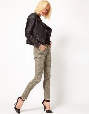 Image 4 ofASOS Skinny Jeans in Animal Print