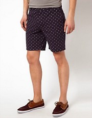 Native Youth  Shorts mit Bootsmuster