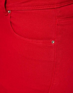 Image 3 ofASOS CURVE Exclusive Skinny In Red #4