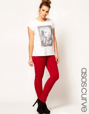 Image 1 ofASOS CURVE Exclusive Skinny In Red #4