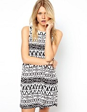 ASOS Smock Dress In Aztec Print
