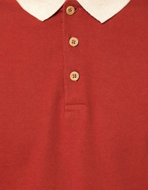 Image 3 ofASOS Polo With Contrast Raglan Sleeves
