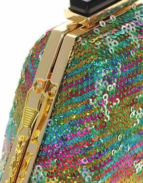Image 2 ofASOS Multi Sequin Hardcase Clutch