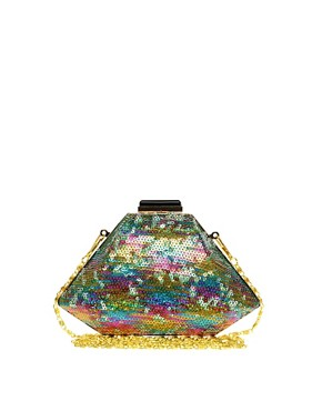 Image 1 ofASOS Multi Sequin Hardcase Clutch