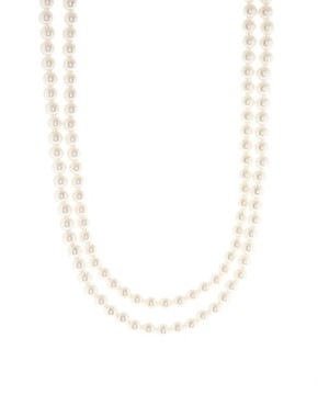 Image 1 ofASOS Extra Long Pearl Rope Necklace