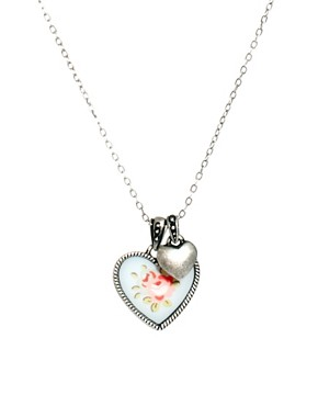 Image 1 ofCath Kidston Floral Heart Necklace