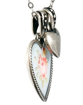 Image 4 ofCath Kidston Floral Heart Necklace