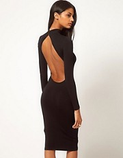 ASOS Midi Body-Conscious Dress With Polo Neck