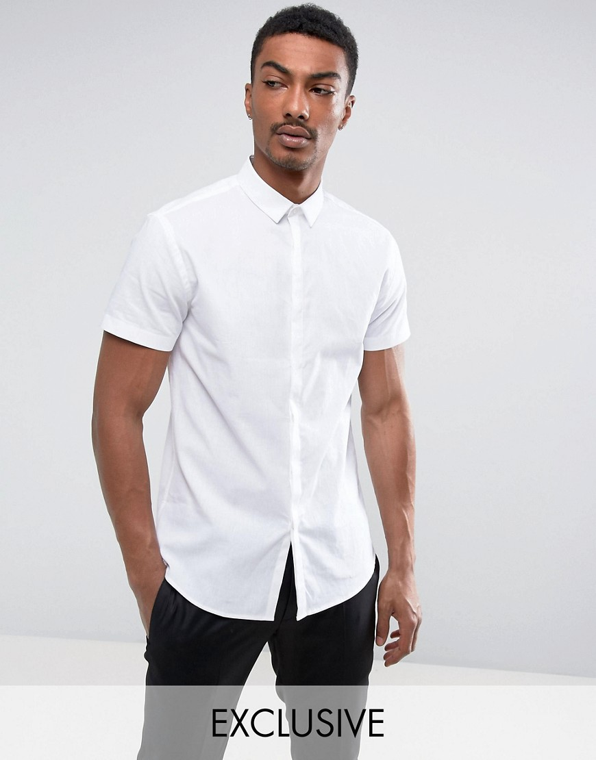 Noak Slim Short Sleeve Shirt - White