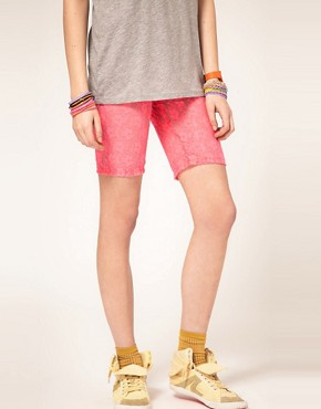 Image 4 ofASOS Fitted Shorts in Neon Lace