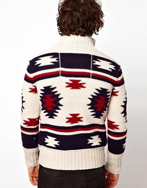 Image 2 ofSuperdry Navajo Knit Zip Cardigan