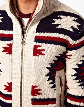 Image 3 ofSuperdry Navajo Knit Zip Cardigan