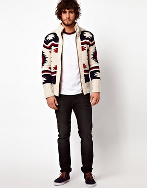 Image 4 ofSuperdry Navajo Knit Zip Cardigan