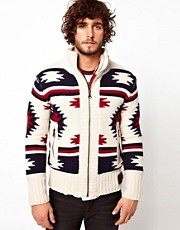 Superdry Navajo Knit Zip Cardigan