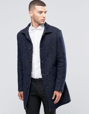 Sisley Overcoat in Contrast Stitch
