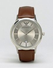Emporio Armani Tan Leather Strap Watch AR2463