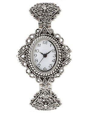 Image 1 ofASOS Vintage Style Filigree Metal Watch