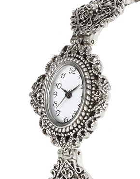 Image 3 ofASOS Vintage Style Filigree Metal Watch