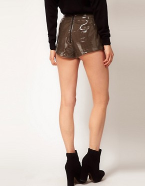 Image 2 ofASOS Shorts in High Shine PU