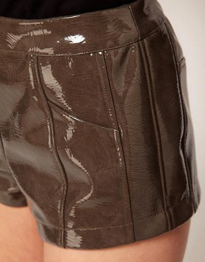 Image 3 ofASOS Shorts in High Shine PU