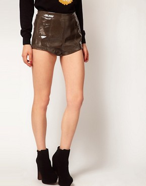 Image 4 ofASOS Shorts in High Shine PU