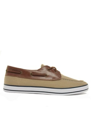 Image 4 ofASOS Herringbone Canvas Boat Shoes