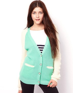 Image 1 ofVero Moda Two Tone Raglan Cardigan