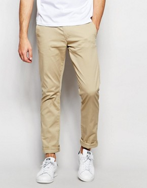 Selected Homme Slim Fit Chinos with Italian Leather Belt