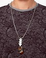 Image 3 ofASOS Triangle and Feather Pendant Necklace