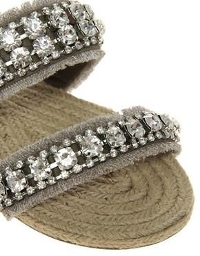 Image 2 ofRiver Island Diamante Espadrille Sandals