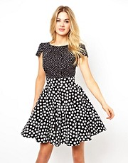Closet Tie Back Skater Dress with Pockets