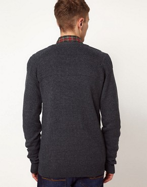 Image 2 ofSolid Jumper with Button Detail