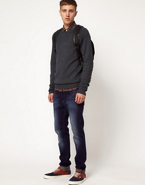 Image 4 ofSolid Jumper with Button Detail