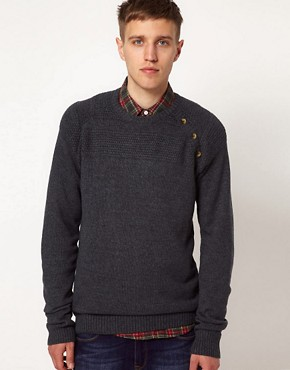 Image 1 ofSolid Jumper with Button Detail