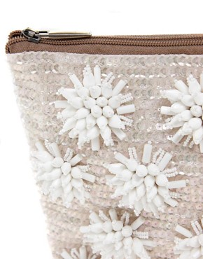 Image 2 ofASOS Floral Beaded Clutch Bag