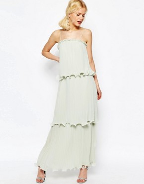 ASOS Maxi Dress With Tiered Pleats