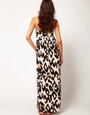 Bild 2 von ASOS Maternity  Maxikleid mit Leopardenfellmuster