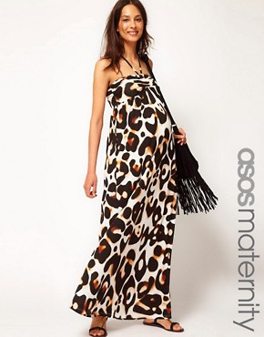 Bild 1 von ASOS Maternity  Maxikleid mit Leopardenfellmuster