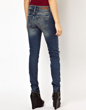 Image 2 ofRiver Island Taylor Skinny Jean with Scratch Wash