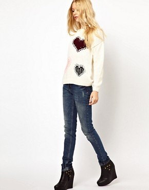 Image 4 ofRiver Island Taylor Skinny Jean with Scratch Wash